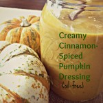 Pumpkin Dressing.  Vegan.  Oil-free. Low-fat. Gluten-free.